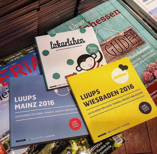 Книжки с купонами LUUPS Gutscheinsbuch Гутшайны